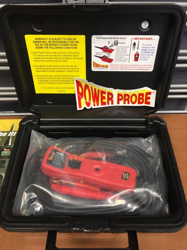 Power Probe 3 III PP319FTCBLK Black Powerprobe Kit w/Voltmeter and  Accessories for Sale in Saugus, MA - OfferUp