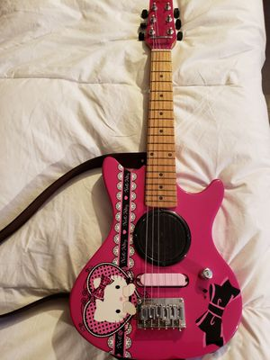 Photo Electric Guitar Hello Kitty -- Guitarra Electrica Hello Kitty
