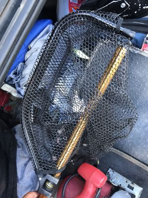 Fishing net extends folds up like new for Sale in Dallas, TX