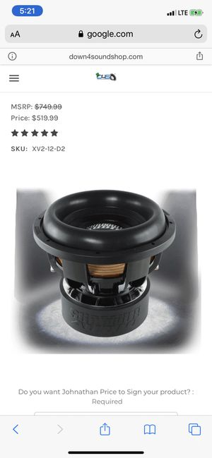 Photo New Sundown Audio X-12v2 D2 ohm $400 firm