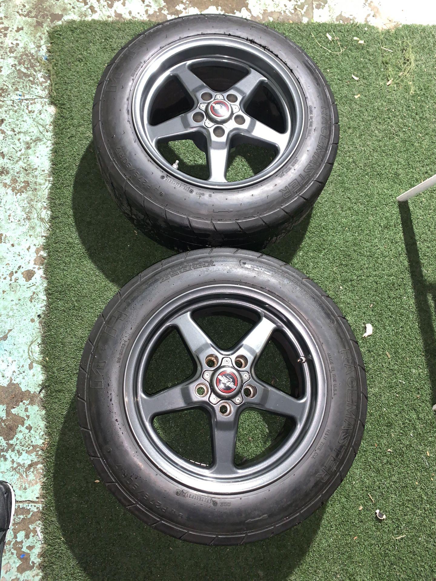 Photo Race Star Dark Star Drag Pack Rims Wheels Tires 5x120 17x10.5 ET 35 17x4.5 25.4 Mickey Thompson MH Racemaster Camaro SS Zl1 CTS V Corvette C5 C6 GM