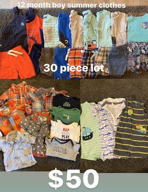 Photo 12 month boy clothes - 30 piece lot!