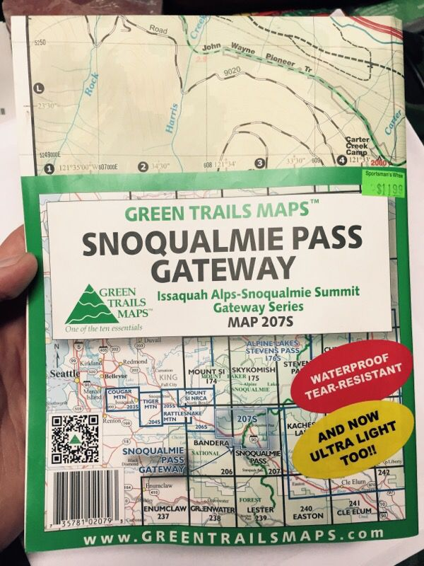 Snoqualmie pass gateway green trails map 207s for Sale in SeaTac, WA -  OfferUp