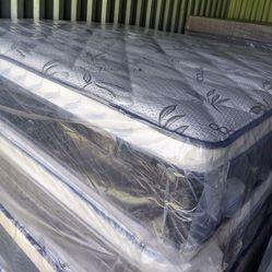 E.King Set Mattress Bamboo Pillow Top Orthopedic Medium Firm And Firm Mattress Brand New With Box Spring Thumbnail