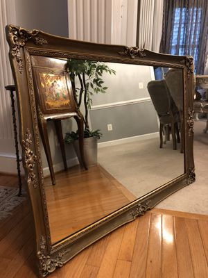 """47""""X33 large Antique french wood oxide mirror for Sale in Nokesville, VA"""