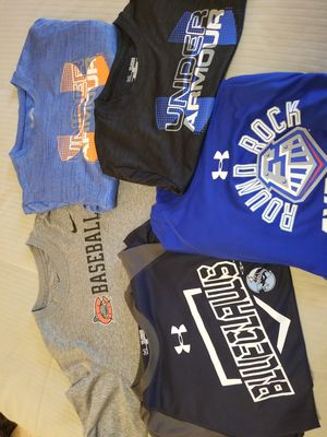 Photo Boys Youth XL Nike & Under Armour Dri Fit Baseball Shirts!! Minor League Teams EXCELLENT CONDITION!!