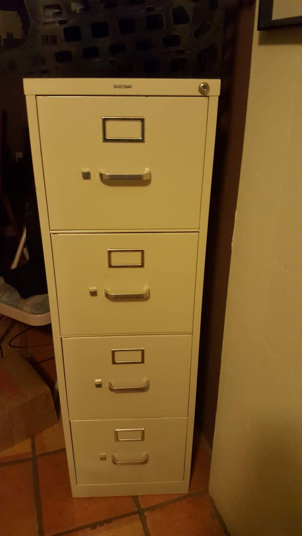 Pleasing Hon H414Pl 4 Drawer Locking Filing Cabinet With Key For Sale In Tucson Az Offerup Home Interior And Landscaping Transignezvosmurscom