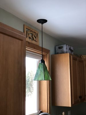 Green pendant light for Sale in Bedford, NH