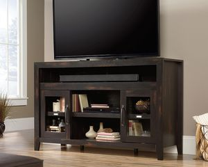 Photo Entertainment/Fireplace Credenza For TVs up to 60inch, Char Pine