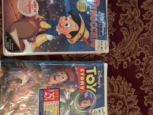(2) VHS Collectible Still Sealed Pinocchio & Toy Story for Sale in Garner, NC