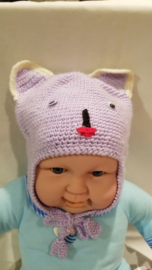 Hand made Light purple color baby hat. for Sale in Martinsburg, WV