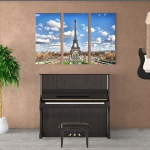 Eiffel Tower Canvas Wrap 3 piece for Sale in Riverbank, CA