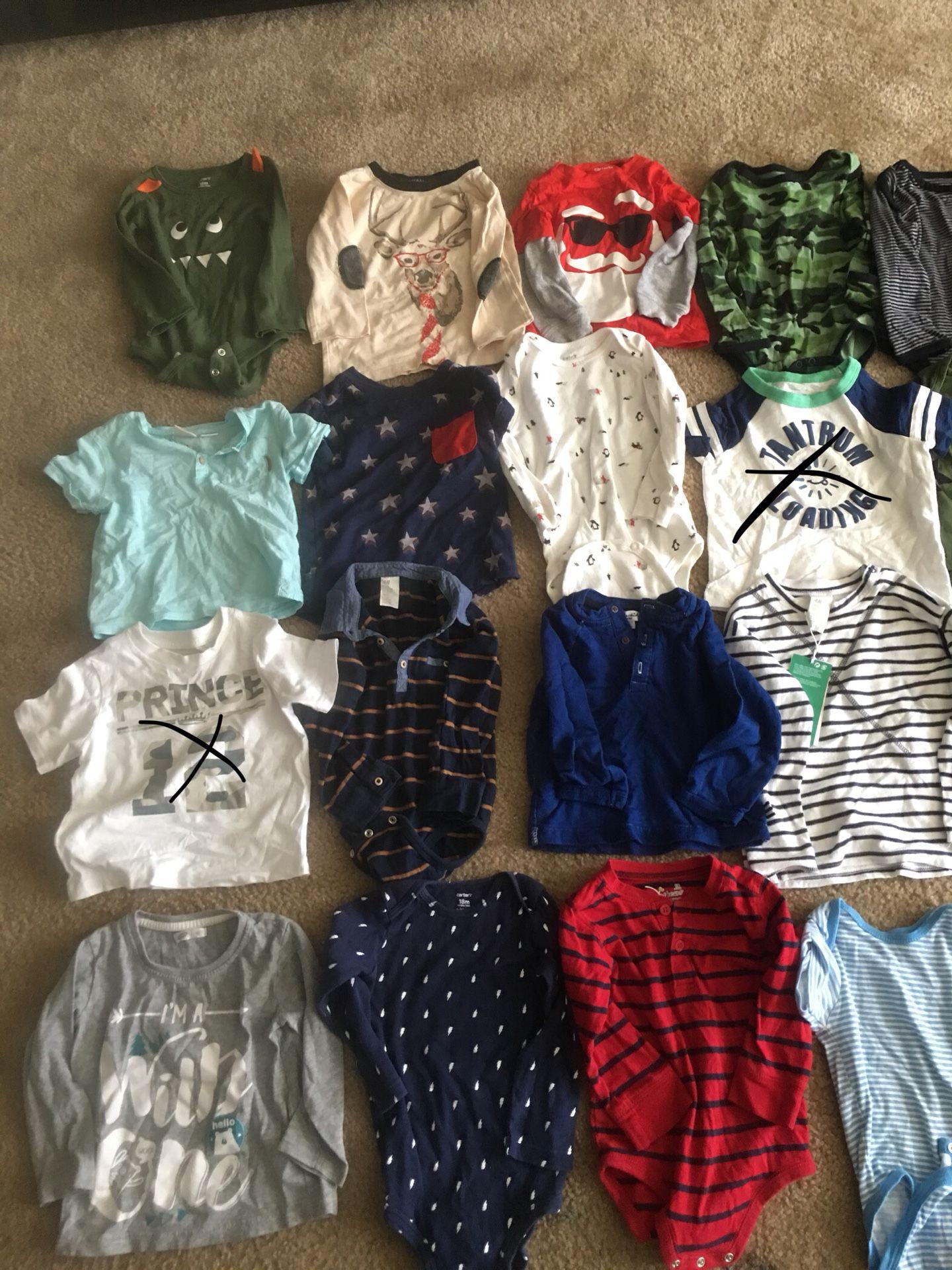 Baby boy/toddler 12-18 months shirts $2 each