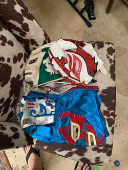Authentic luchador Mexican wrestling masks Thumbnail