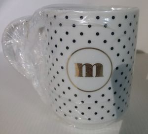 "Polka dot ""m"" mug for Sale in Salt Lake City, UT"