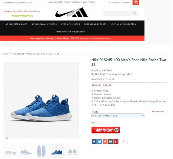 f7275bde09a0 Nike Roshe Two SE Casual Shoes Blue Jay Light Armory Blue Mens for ...