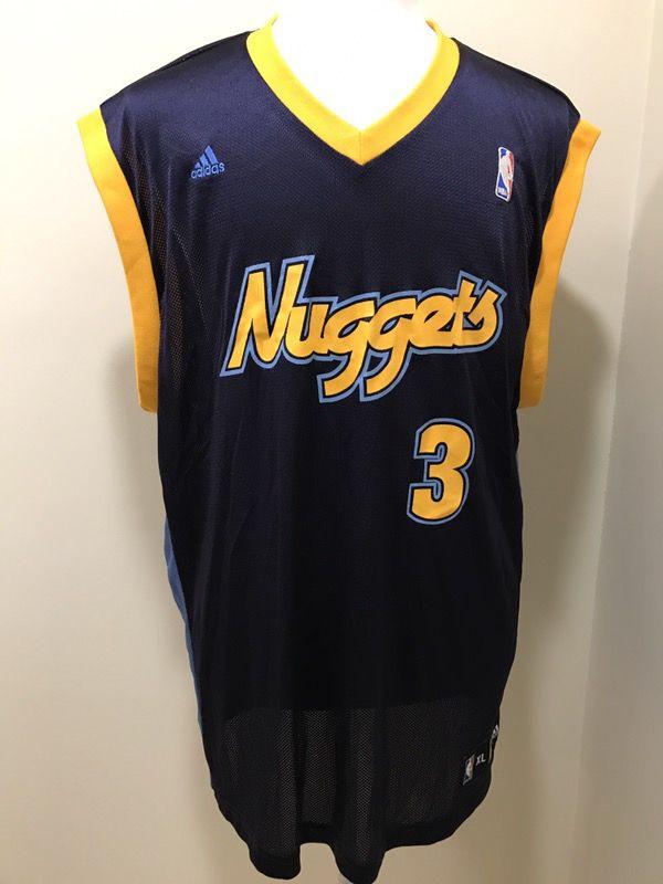 size 40 3b88b 08a87 Men's Adidas Denver Nuggets Allen Iverson Jersey Size XL for Sale in  Pompano Beach, FL - OfferUp