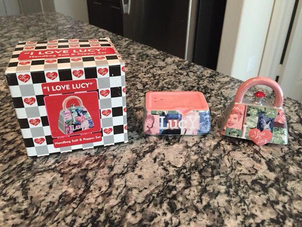 I Love Lucy Handbag Salt And Pepper Set For In Kingsford Mi Offerup