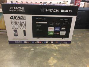 Hitachi 60R70 60 Inch 4K UHD HDR Roku Smart TV 2160p *FREE DELIVERY* for Sale in Renton, WA