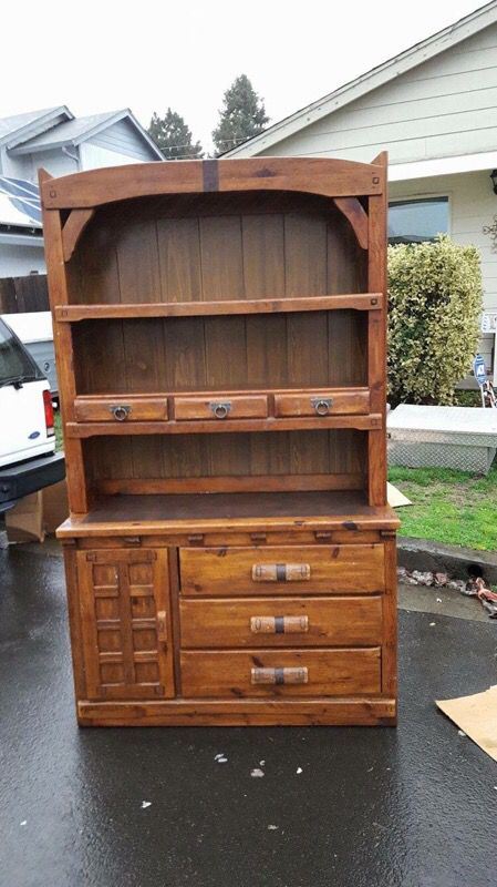 Link Taylor rawhide collection - wood buffet/ hutch for Sale in Salem, OR -  OfferUp