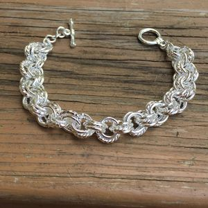 925 sterling silver plated bracelet chain women's jewelry for Sale in Silver Spring, MD