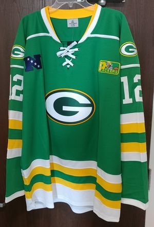 half off 14875 2aae5 Green Bay Packers adult large Hockey jersey for Sale in Boston, MA - OfferUp
