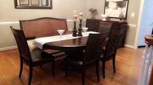 Dinning with 4 chairs and a bench for Sale in Silver Spring, MD
