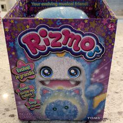 New Rizmo Evolving Musical Friend Interactive Plush Toy with Fun Games, Aqua Thumbnail