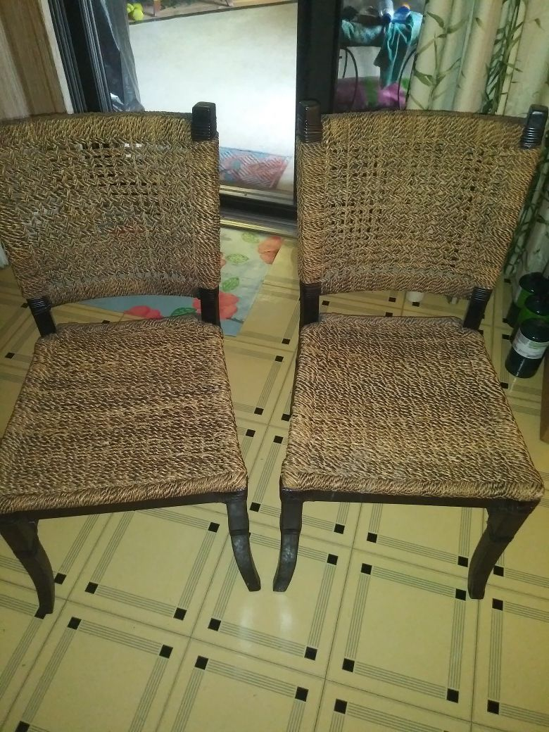 Rope braided chair set