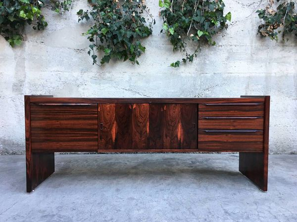 Danish Style Credenza : Mid century modern rosewood executive credenza for sale in santa