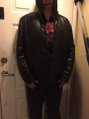 Leather Biker Jacket - Lined and Reinforced for Sale in Las Vegas, NV