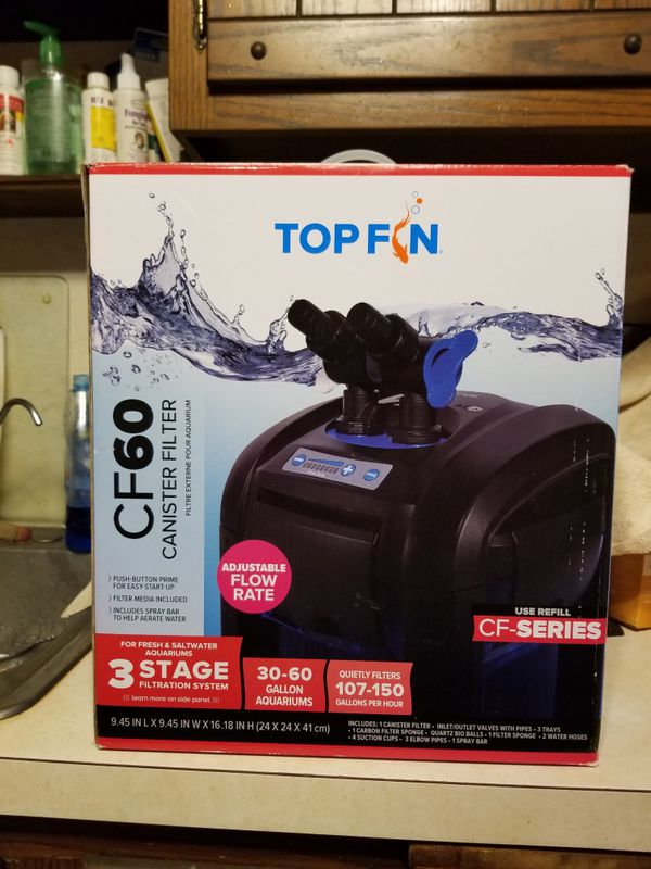 Top Fin CF60 CANISTER AQUARIUM FILTER for Sale in Monrovia, MD - OfferUp