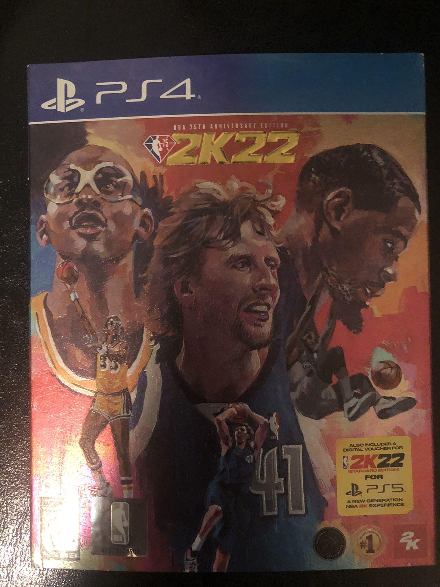 NBA 2k22 PlayStation 4 LEGEND EDITION