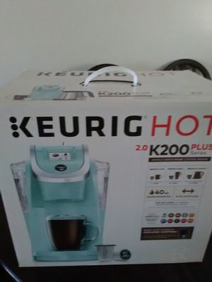 Keurig 2.0 K200 plus color turquoise for Sale in Fort Belvoir, VA