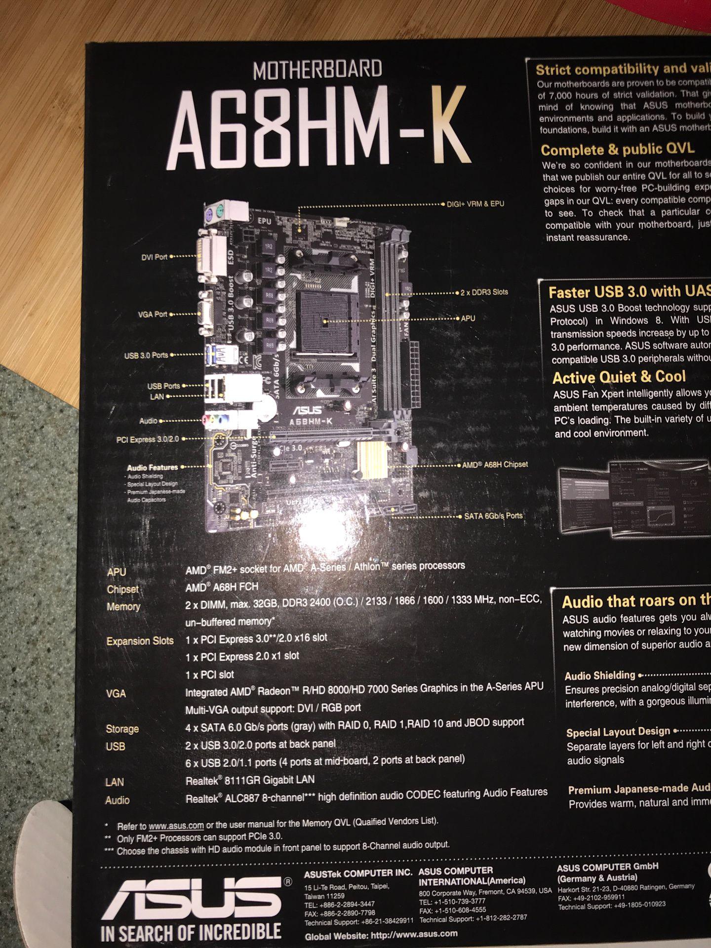 ASUS Motherboard (A68HM-K)