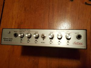 Bellari Stereo (2 channel) Tube Direct Box (preamp) great for keyboards or 2 acoustic guitars for Sale in Orlando, FL