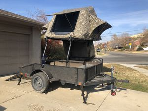 Overland Adventure Camp Trailer with Rooftop Tent for Sale in Salt Lake City, UT