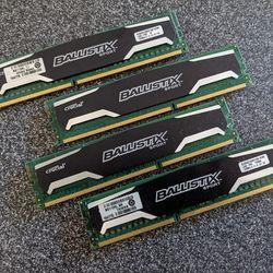 Crucial Ballistix Sport 16GB DDR3 PC3-12800 RAM (4x4gb) BLS4G3D1339DS1S00.16FMR Thumbnail
