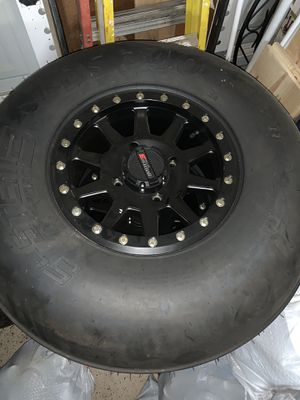 Photo New never used Full System 3 Can-Am sand wheels and tires for $1,100