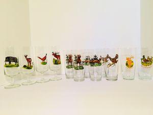 Vintage 12pc Handpainted Wildlife/ Game Glasses for Sale in Gunpowder, MD