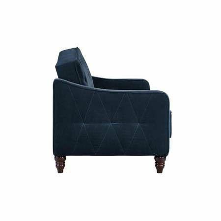 9 By Novogratz Vintage Tufted Sofa Sleeper Ii New In Box Navy