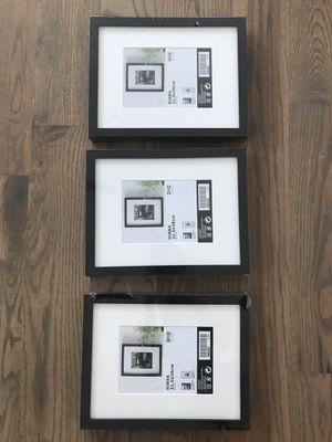 Set of 3 New 8.5x11in Black Picture Framea for Sale in Nashville, TN