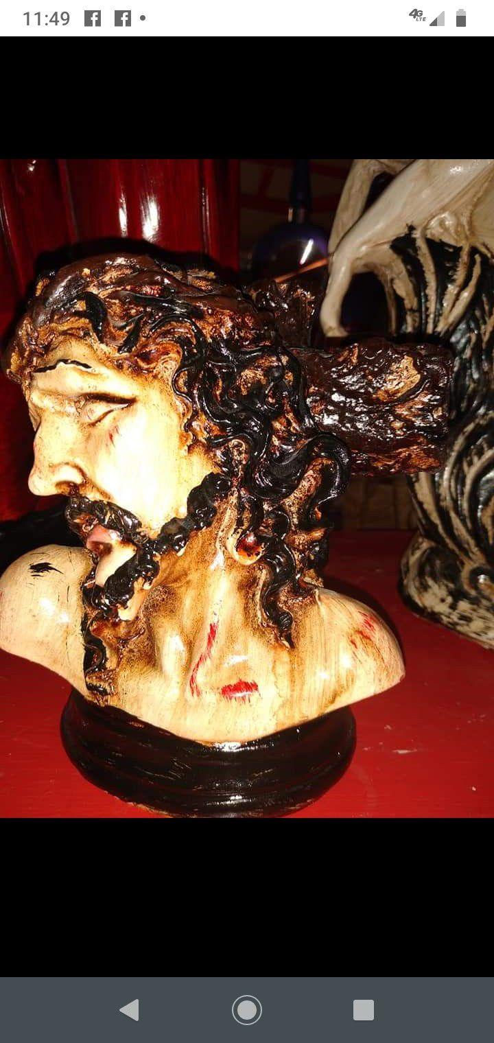 Christ face decoration