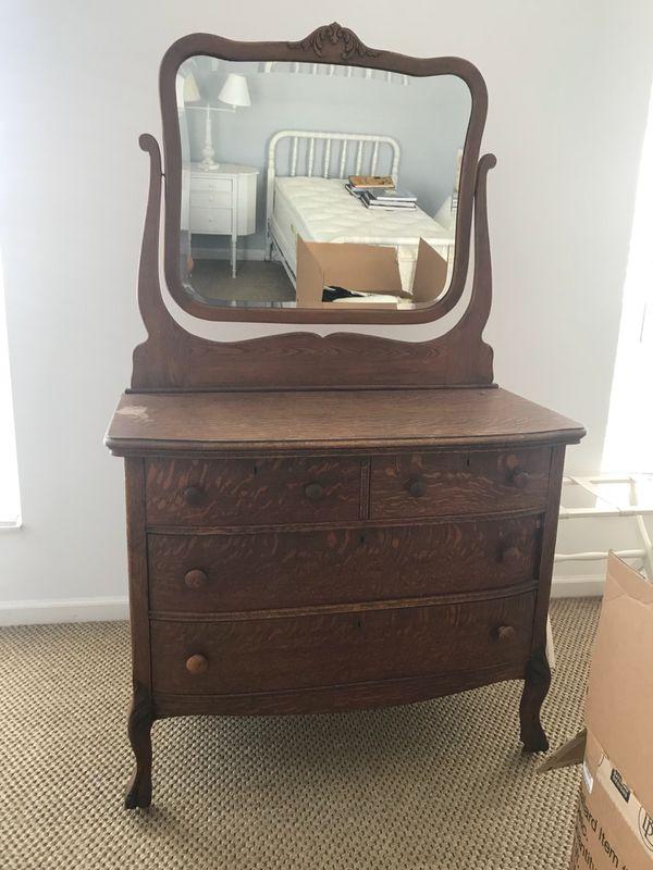 Antique Oak Dresser Mirror For Sale In Palm Beach Gardens Fl