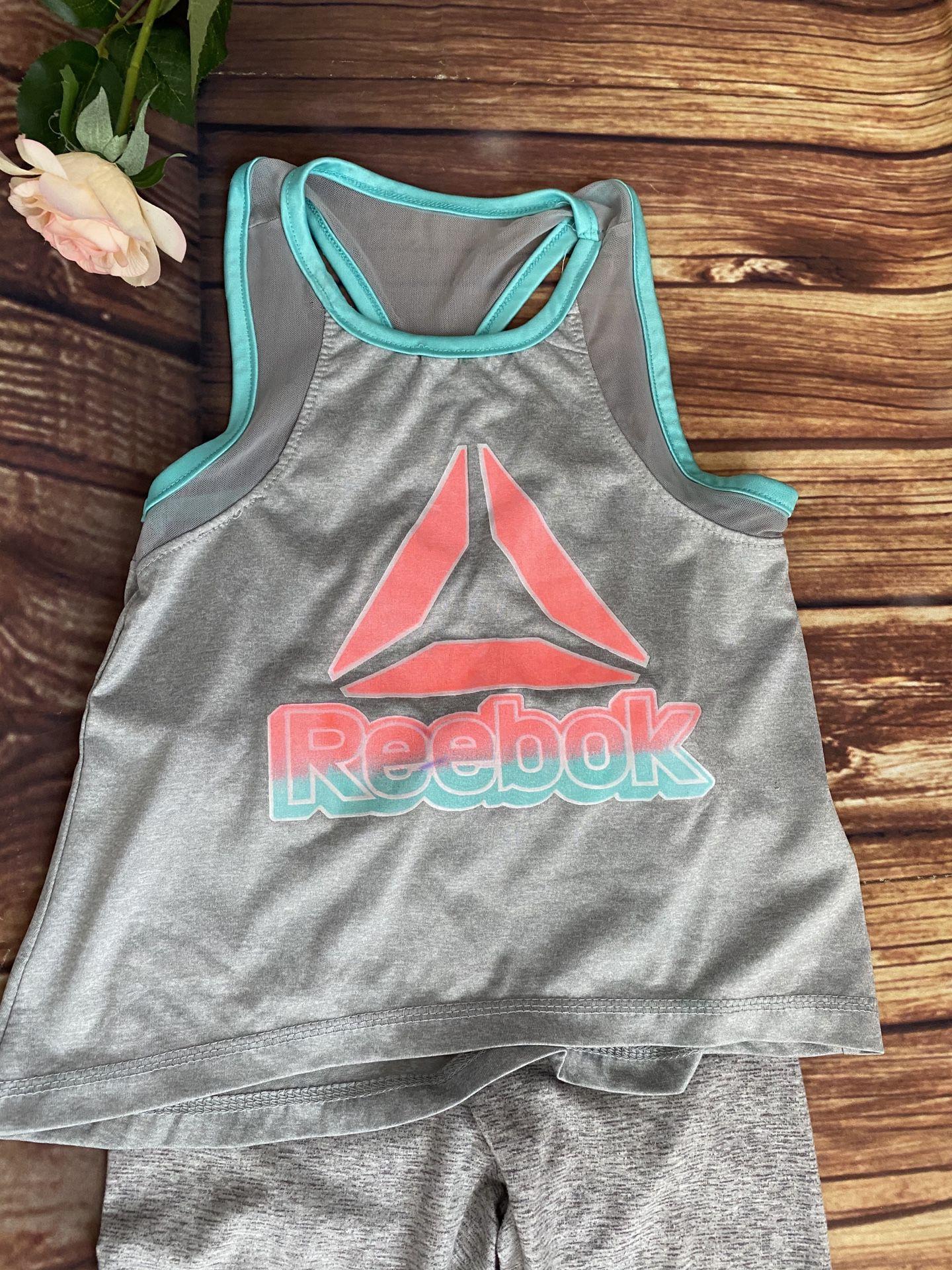 Reebok Toddler Girls Athletic Gray Set of 2pcs Sz 4