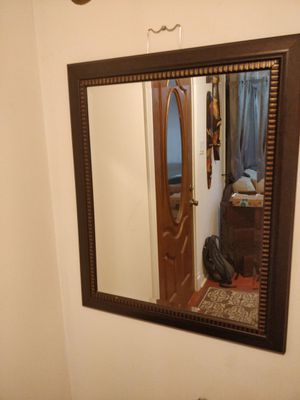 "Like new wood frame mirror in great condition, bet free smoke free. L28""*H34"" for Sale in Annandale, VA"