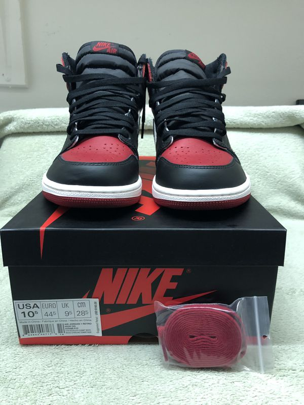 official photos 16198 01295 Jordan 1 Retro Bred Toe (2018) for Sale in Greenwood, IN - OfferUp