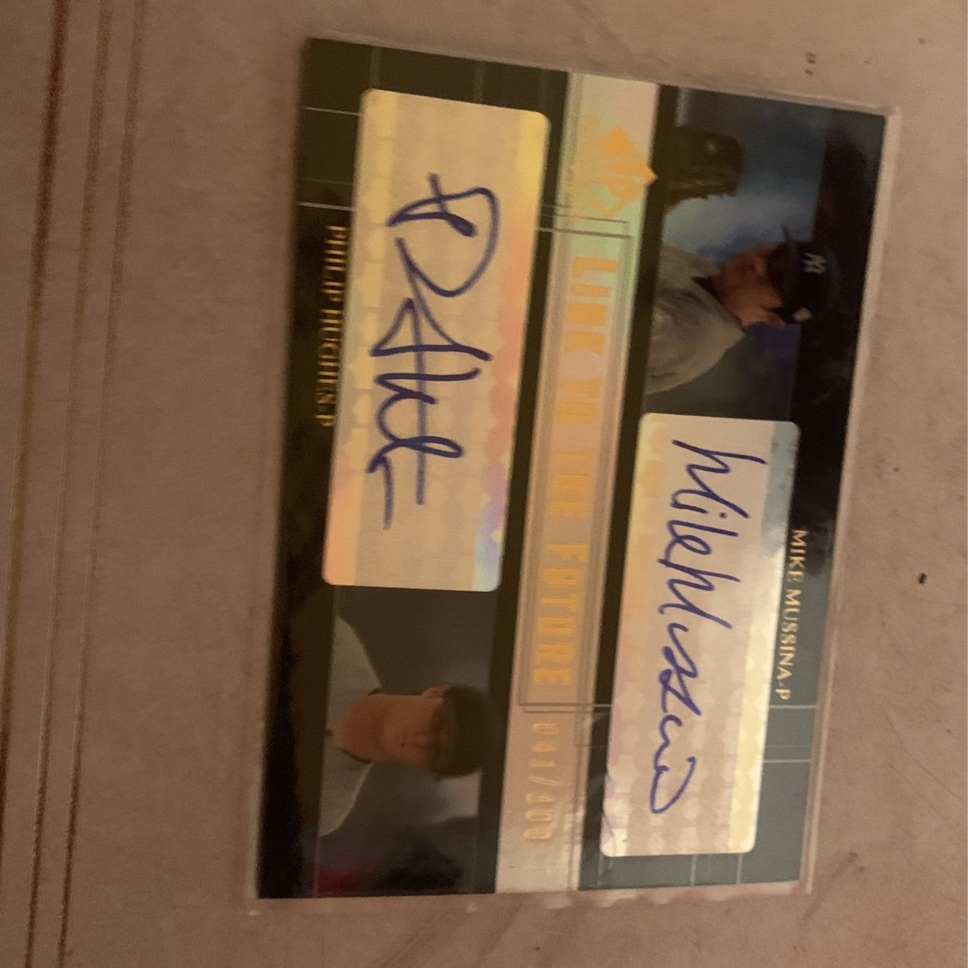 Sp Prospects Link To The Future Mike Mussina And Phillip Hughes 41/100