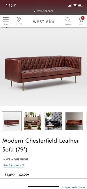 Astounding Modern Chesterfield 79 Leather Sofa For Sale In San Uwap Interior Chair Design Uwaporg