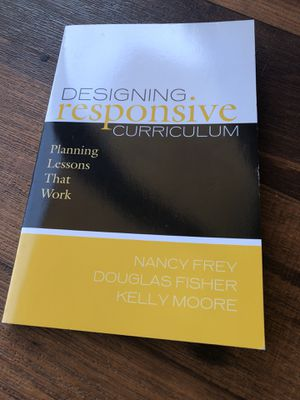 Designing Responsive Curriculum Textbook NEW for Sale in San Diego, CA